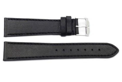 Movado Genuine Smooth Leather Black 20mm Watch Strap