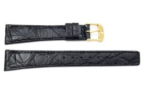 Movado Genuine Crocodile Leather Black 16mm Watch Band