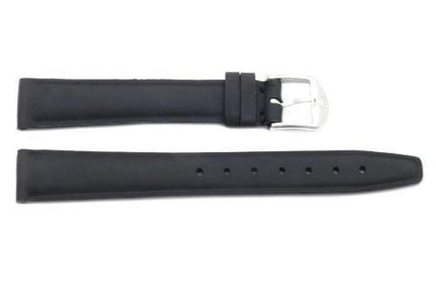 Movado Genuine Black Smooth Leather 14mm Watch Strap