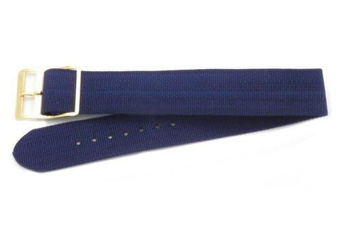 Navy Blue Nylon Watch Strap