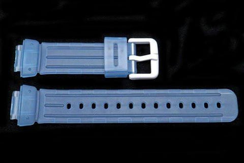 Blue Clear Tint Rubber Casio Baby G Style 23/14mm Watch Strap