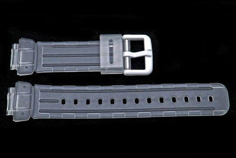 Clear Rubber Casio Baby G Style 23/14mm Watch Band