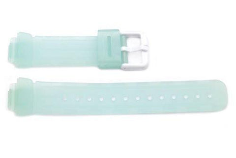 Green Clear Tint Rubber Casio Baby G Style 23/14mm Watch Strap