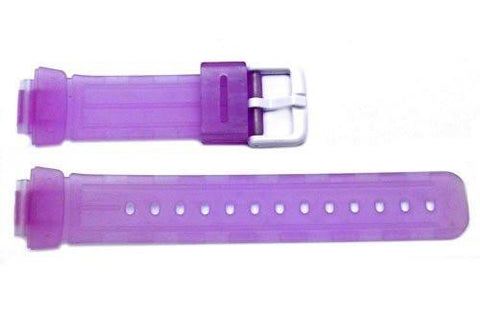 Purple Clear Tint Rubber Casio Baby G Style 23/14mm Watch Strap