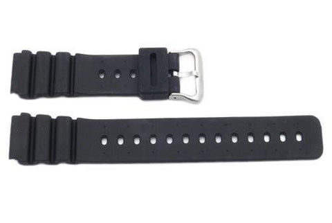 Black Rubber B-P140-G Watch Strap