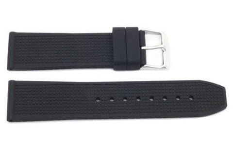 Black Square Texture Rubber B-RB116 22mm Watch Strap