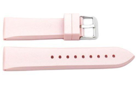 Pink Tapered Rubber B-RB119 22mm Watch Band