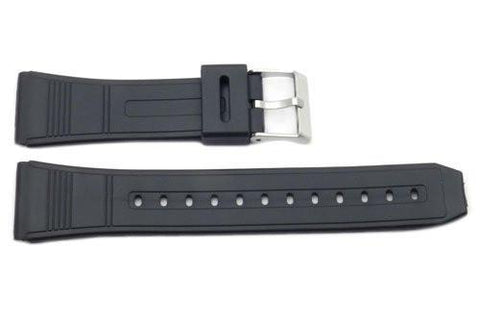 Black Rubber Casio Style 22mm Watch Band
