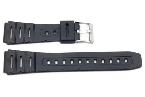 Black Rubber Casio Style 20mm Watch Band