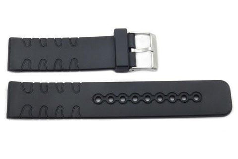 Black Rubber Casio Style 22mm Watch Strap