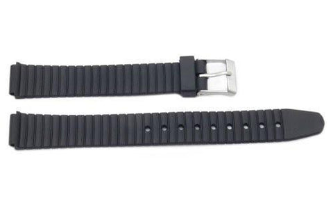 Black Rubber Casio Style 11mm Watch Band