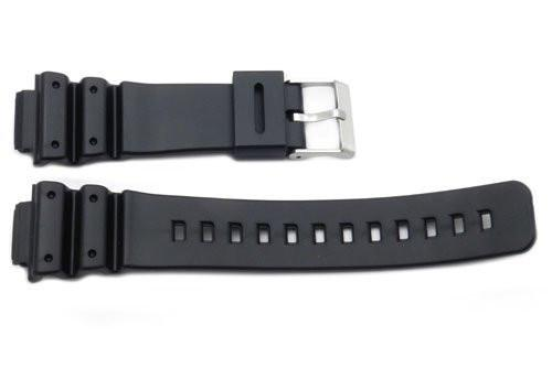Black Rubber Casio Style 16mm Watch Band