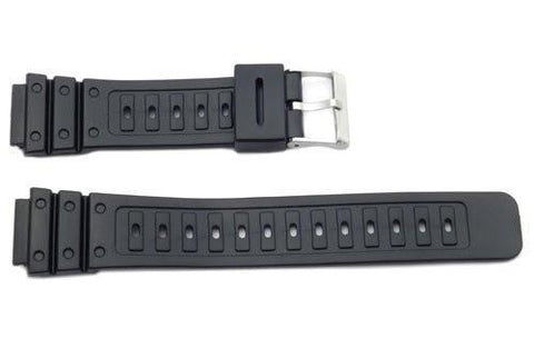 Black Rubber Casio Style 18mm Watch Strap
