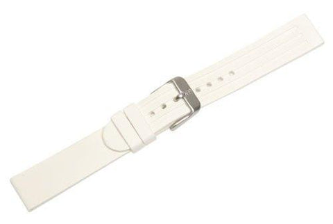 Genuine Swiss Army Maverick II Small White Rubber Watch Band