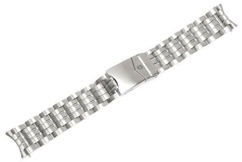 Genuine Swiss Army Maverick II Large Silver Tone Stainless Steel Watch Bracelet