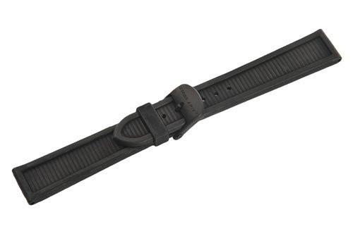 Swiss Army Centurion Series Black Rubber 20mm Watch Strap