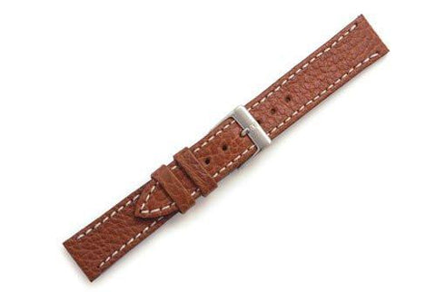 Swiss Army Officer Genuine Brown Textured Leather 15mm Watch Band