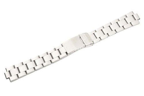 Swiss Army Officer's Stainless Steel Silver Tone Watch Bracelet
