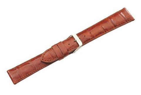 Swiss Army Officer Brown Textured Leather Crocodile Grain 20mm Watch Strap