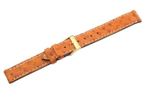 Swiss Army Golden Delta II Series Brown Smooth Leather 15mm Watch Band