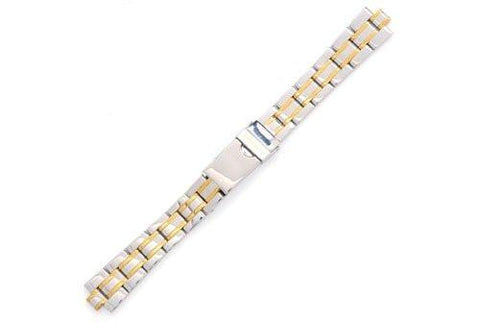 Swiss Army Officer's Dual Tone Stainless Steel 15mm Watch Bracelet