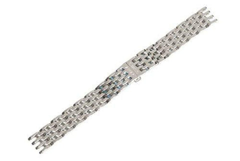 Swiss Army Cavalry II Silver Tone Stainless Steel 8mm Watch Bracelet