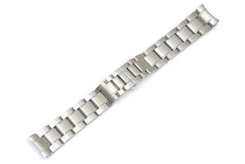 Swiss Army Officer's Chrono Silver Tone Stainless Steel 20mm Watch Bracelet