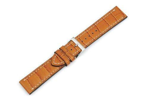Swiss Army Alliance Series Honey Genuine Leather Alligator Grain 21mm Watch Strap