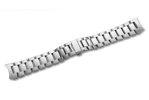 Swiss Army Ambassador Clous de Paris Silver Tone Stainless Steel 22mm Watch Bracelet