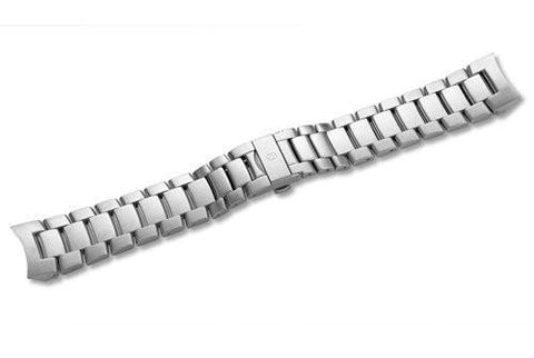 Swiss Army Ambassador Clous de Paris Silver Tone Stainless Steel Watch Bracelet