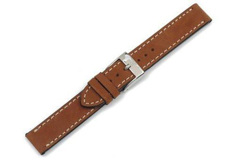 Swiss Army Officer's Classic Series Genuine Smooth Brown Leather Watch Strap