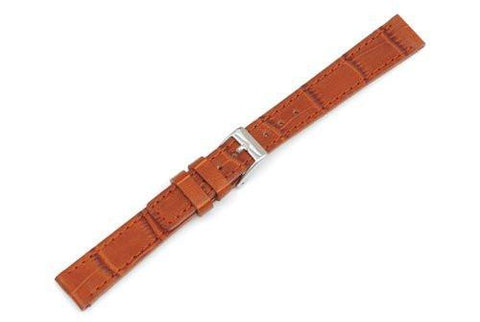 Swiss Army Vivante Genuine Textured Leather Brown Alligator Grain 14mm Watch Strap