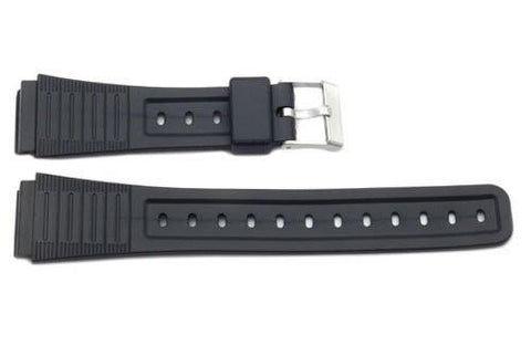 Black Rubber Casio Style 19mm Watch Strap