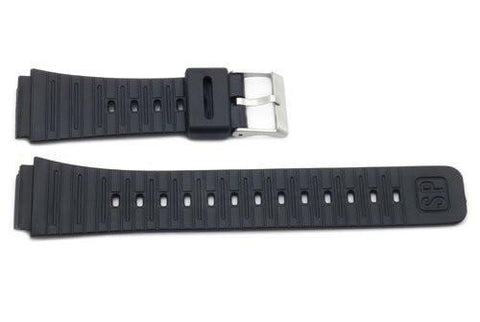 Black Rubber Casio Style 20mm Watch Strap