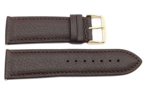 Genuine Textured Leather Brown Extra Wide 26mm Watch Strap