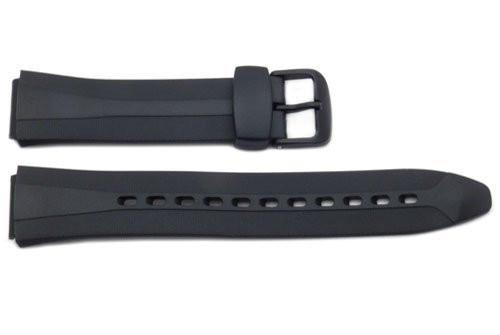 Genuine Casio Waveceptor Black Resin 28.5/17mm Watch Strap