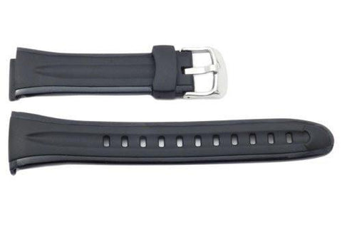 Genuine Casio Waveceptor Black Resin 12.5/10mm Watch Strap