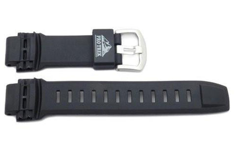 Genuine Casio Protrek Black Resin 27/18mm Watch Strap- 10350859