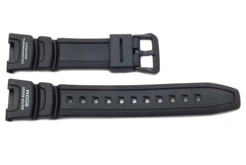Genuine Casio Black Resin 24/12mm Watch Band- 10304195