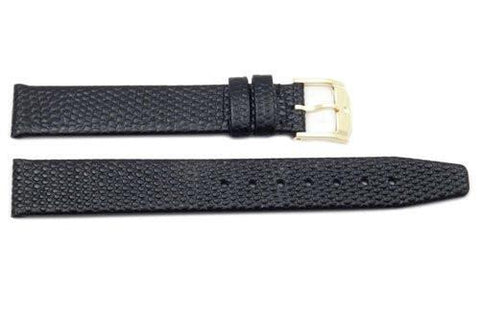 Genuine Movado Black Genuine Royal Lizard 15mm Watch Strap