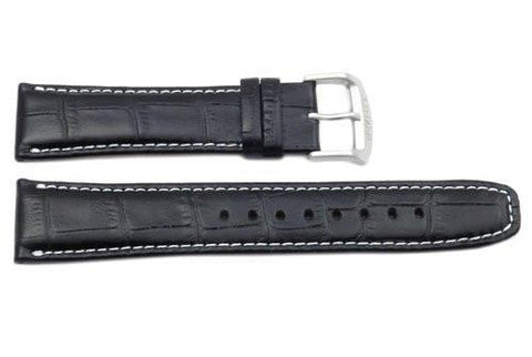 Citizen Genuine Black Textured Leather 22mm Watch Strap