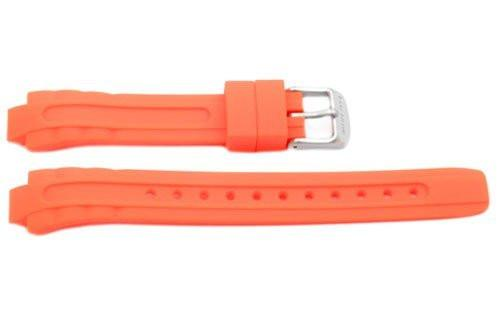 Citizen Eco-Drive Orange Rubber 17/10mm Watch Band