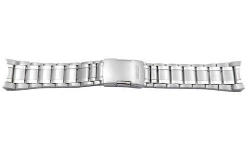 Citizen Silver Tone Stainless Steel Push Button Clasp 24mm Watch Bracelet