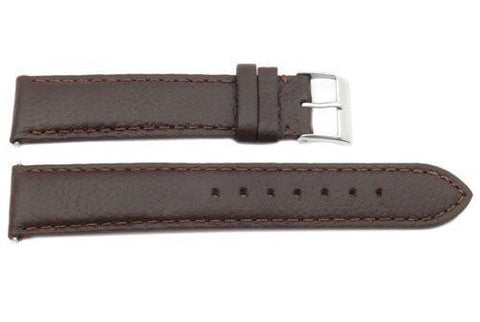 Genuine Swiss Army Garrison Textured Brown Leather 17mm Watch Strap