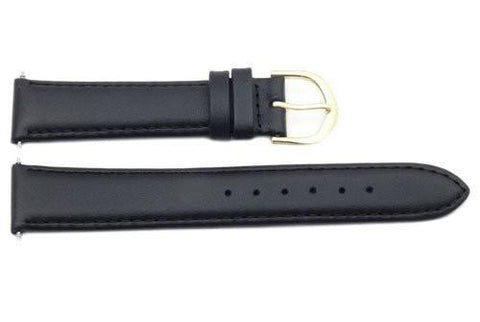 Timex Black Genuine Calfskin Leather 18mm Watch Band