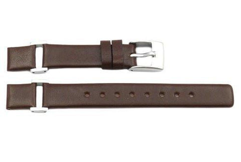 Kenneth Cole Genuine Smooth Leather Brown 12mm Watch Strap