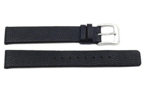 Kenneth Cole Genuine Textured Black Leather Square Tip 15mm Watch Band