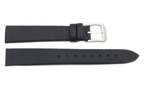 Kenneth Cole Black Smooth Tapered Polyurethane16mm Watch Band