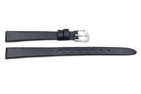 Kenneth Cole Genuine Black Smooth Leather 10mm Watch Strap