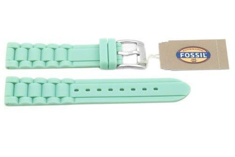 Fossil Mint Silicone Link Style 18mm Watch Strap